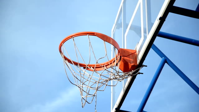 basketball net - shooting baskets stock videos and b-roll footage