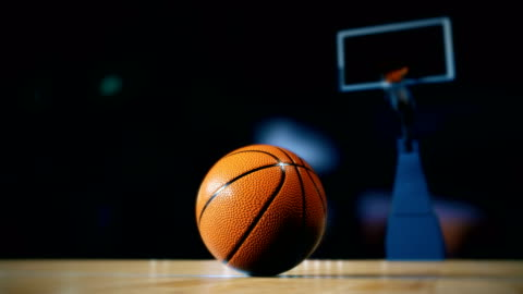 basketball on court - sports court stock videos & royalty-free footage
