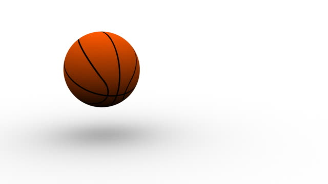 basketball on white - hd - bouncing stock videos & royalty-free footage