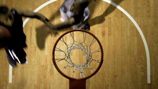 basketball player performing a lay up - net sports equipment stock videos & royalty-free footage