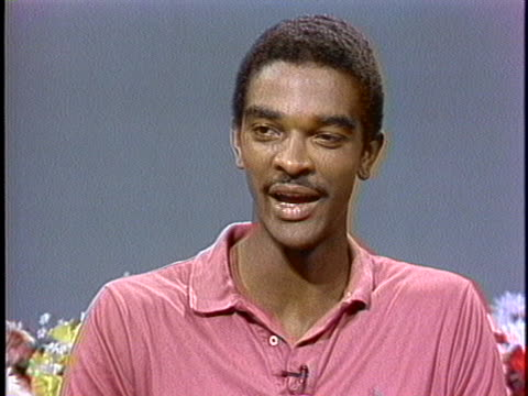 stockvideo's en b-roll-footage met basketball player ralph sampson speaks about his nba top draft choice status - sport