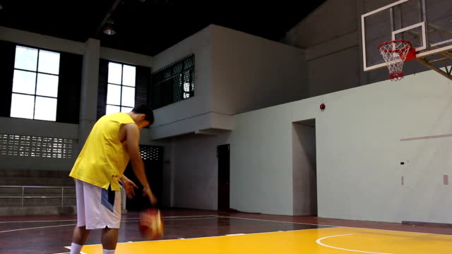 basketball player shooting - shooting baskets stock videos and b-roll footage