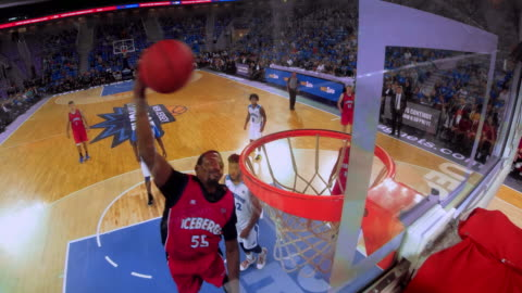 ld basketball player slam dunking the ball - sportsperson stock videos & royalty-free footage