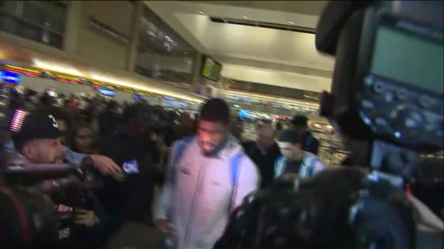 basketball players arrive in los angeles after shoplifting allegations in china 'resolved' - ucla stock videos & royalty-free footage