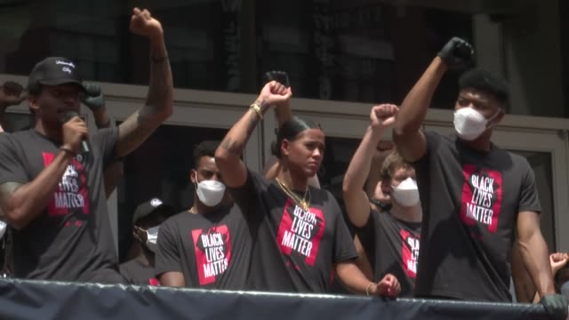 basketball players of the washington mystics and washington wizards march to the martin luther king jr. memorial in the us capital to support the... - social justice concept stock videos & royalty-free footage