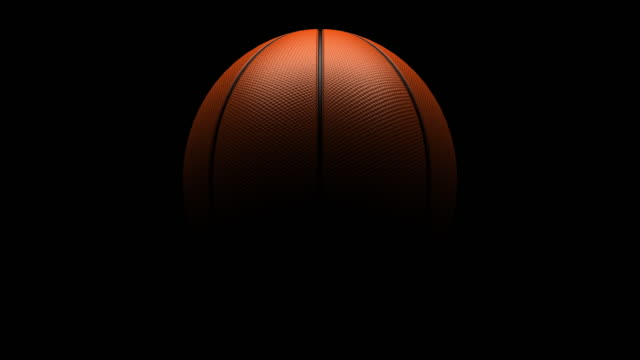 Basketball rotating loop isolated with luma matte