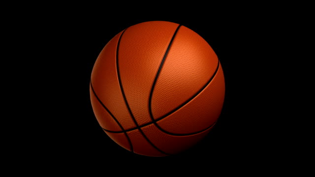 basketball rotating loop isolated with luma matte zg - basketball stock videos and b-roll footage