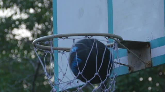 basketball shot - basket stock videos & royalty-free footage