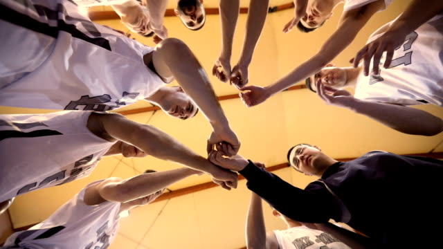 basketball team unity - basket video stock e b–roll