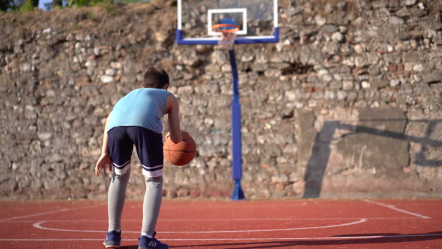 basketball training - courtyard stock videos & royalty-free footage
