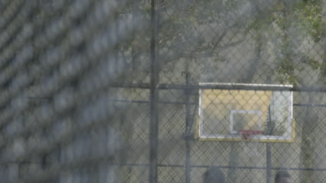 basketball - chainlink fence stock videos and b-roll footage