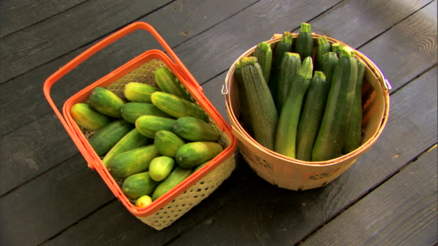baskets of fresh organic produce - see other clips from this shoot 1425 stock videos and b-roll footage