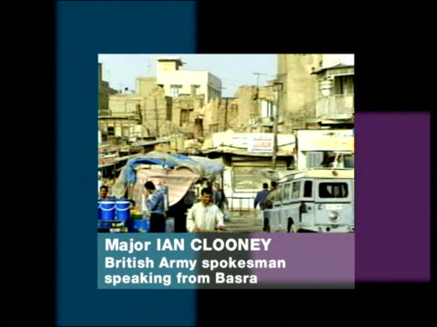 basra street major ian cooley phono interview sot number of incidents between insurgents uk forces / in basra we've had number of vehicles damaged... - posture stock videos & royalty-free footage