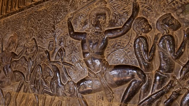 bas-reliefs. angkor wat temple. angkor. - cambodian culture stock videos and b-roll footage