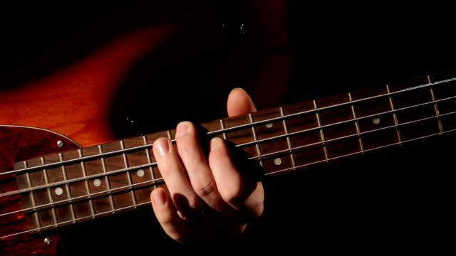 bass guitar - bassgitarre - fretboard stock videos & royalty-free footage