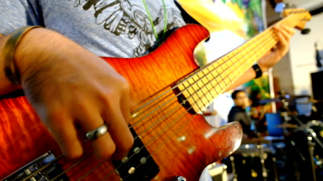 bass guitar - treble clef stock videos & royalty-free footage