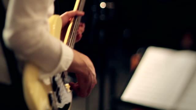 Bass Guitarist Playing Live Show