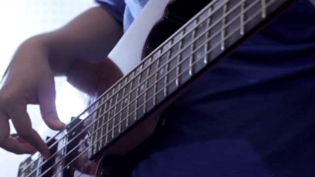 bass player hd - fretboard stock videos & royalty-free footage