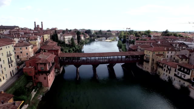 bassano del grappa aerial view - florence stock videos and b-roll footage