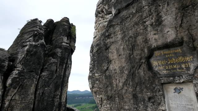 Bastei Bridge on Bastei Rock Formation near Rathen Saxon Switzerland Saxony,