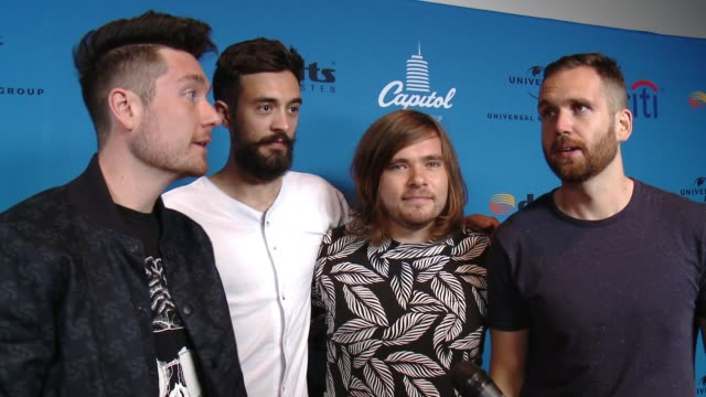 interview bastille at arclight cinemas on august 05 2015 in hollywood california - arclight cinemas hollywood stock videos and b-roll footage