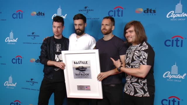 bastille at arclight cinemas on august 05 2015 in hollywood california - arclight cinemas hollywood stock videos and b-roll footage