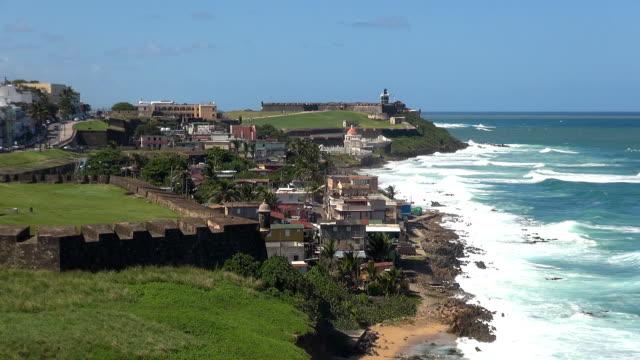 vídeos de stock, filmes e b-roll de bastión de san sebastián-sanjuan, puerto rico - porto riquenho