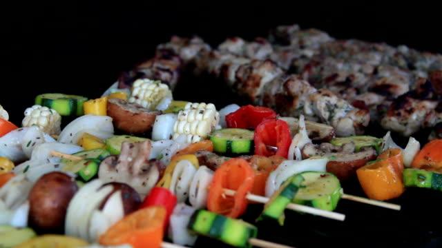 Basting BBQ Vegetable Shish Kebab