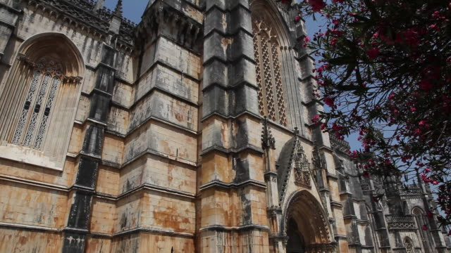 batalha monastery (mosteiro de santa maria da vitoria de batalha), southern side of the monastery - monastery stock videos & royalty-free footage