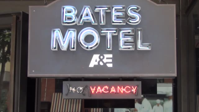 Bates Motel entrance on streets of San Diego Comic Con at Celebrity Sightings ComicCon International 2013 Celebrity Sightings ComicCon International...