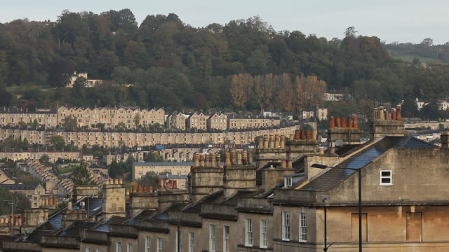 bath, england cityscape as housing prices rapidly rise in bath, u.k., on wednesday, october 7, 2020. - roundabout stock videos & royalty-free footage