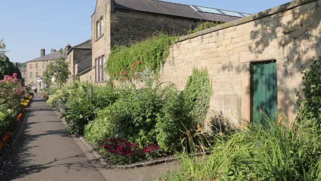 bath gardens in bakewell, peak district national park, derbyshire, england, uk, europe - bush stock videos & royalty-free footage