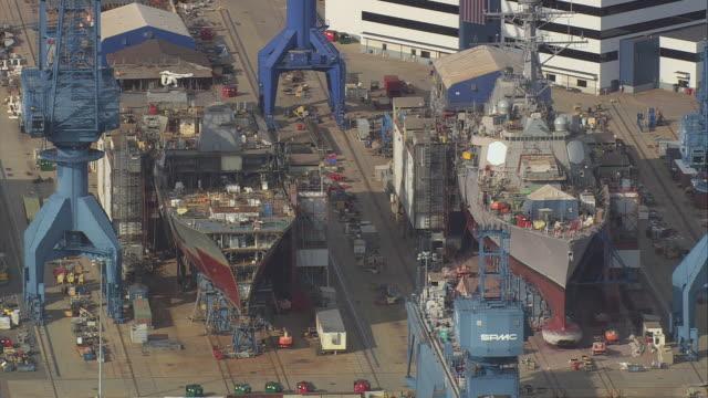 stockvideo's en b-roll-footage met aerial bath iron works facility / bath, maine, united states - ijzer