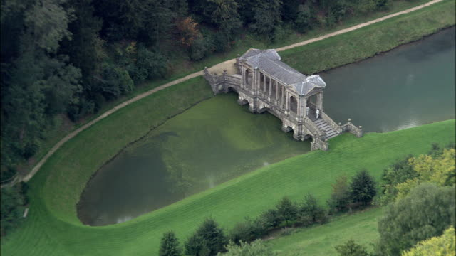 bath prior park  - aerial view - england, bath and north east somerset, united kingdom - north east england stock videos and b-roll footage