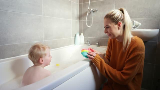 bath time - bath stock videos & royalty-free footage