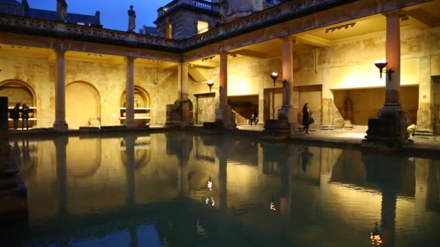 bath, view of the roman bath - bathhouse stock videos & royalty-free footage