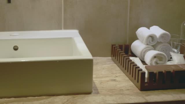 バスルームの装飾。 - 銀点の映像素材/bロール