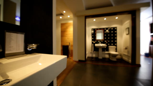 bathroom showroom - tile stock videos & royalty-free footage