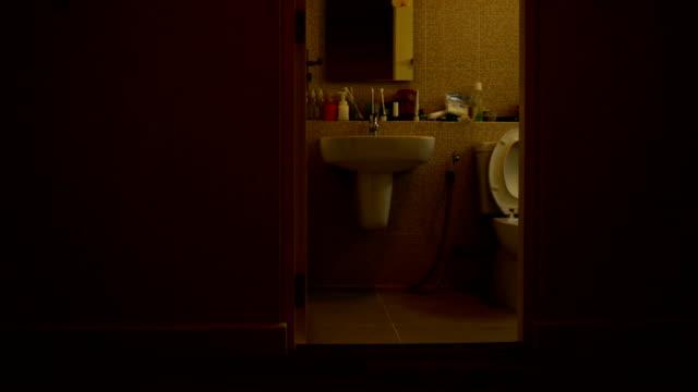 bathroom - utility room stock videos and b-roll footage