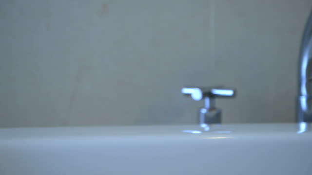 bathtub faucet in the bathroom - condensation stock videos and b-roll footage