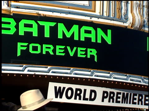 Batman Forever Premiere at the 'Batman Foreve'r Premiere on June 9 1995