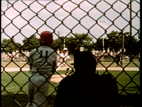 a batter hits a home run in a little league baseball game - frivarv bildbanksvideor och videomaterial från bakom kulisserna