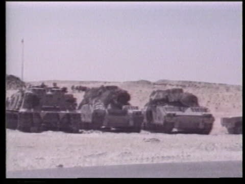 batteries and generators cause problems with m1 abrams tanks and m2 bradley ifvs during desert shield in saudi arabia. - howitzer stock videos & royalty-free footage