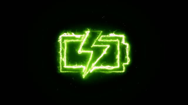 battery animation - neon stock videos & royalty-free footage