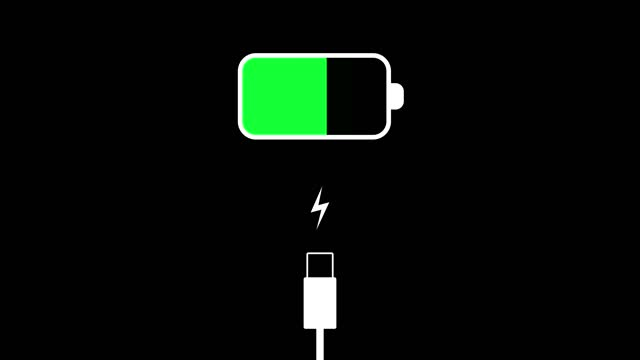 battery charge on black background animation - battery stock videos & royalty-free footage