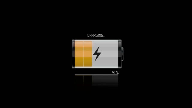 4k- battery charging  | loopable - low stock videos and b-roll footage