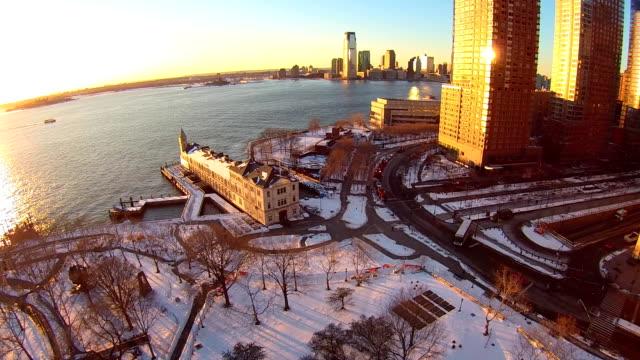 Battery Park Winter Aerials