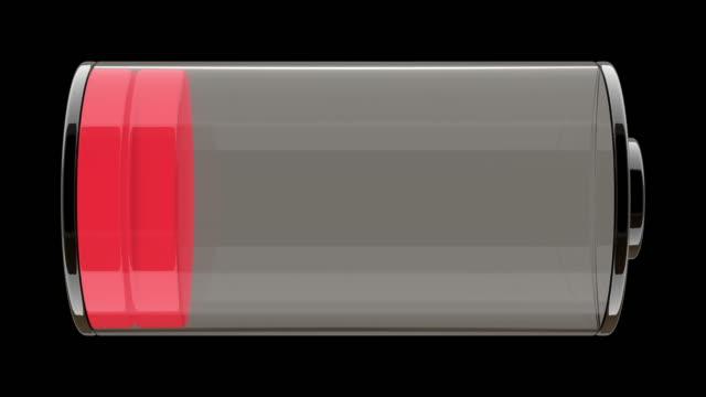 stockvideo's en b-roll-footage met batterijstatus - gevuld