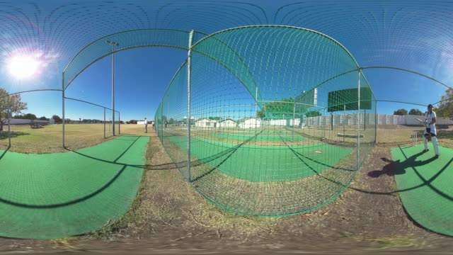 Batting practice in cricket nets Durban South Africa