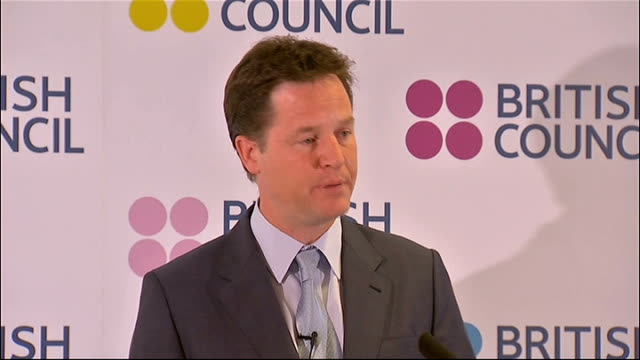 battle for control of tripoli reaction in uk nick clegg mp speech nick clegg mp speech sot the g8 launched the deauville partnership earlier this... - southern european stock videos & royalty-free footage